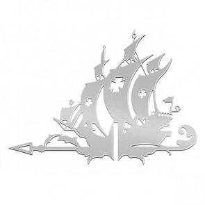 Флюгер «КОРАБЛЬ ЖЕМЧУЖИНА» 01-018 (700*800) RAL 7004 (сигнальный серый)
