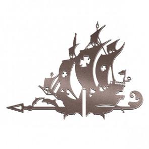 Флюгер «КОРАБЛЬ ЖЕМЧУЖИНА» 01-018 (700*800) RAL 8017 (шоколадно-коричневый)