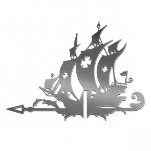 Флюгер «КОРАБЛЬ ЖЕМЧУЖИНА» 01-018 (700*800) RAL 9005 (черный)