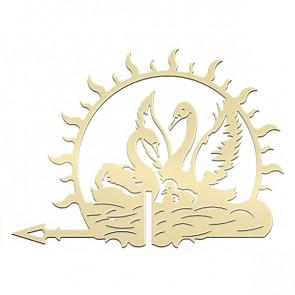 Флюгер «ЛЕБЕДИ-1» 01-022 (700*800) RAL 1014 (слоновая кость)