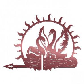 Флюгер «ЛЕБЕДИ-1» 01-022 (700*800) RAL 3005 (винно-красный)