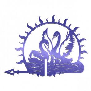 Флюгер «ЛЕБЕДИ-1» 01-022 (700*800) RAL 5002 (ультрамарин)