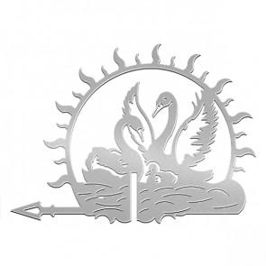 Флюгер «ЛЕБЕДИ-1» 01-022 (700*800) RAL 7004 (сигнальный серый)