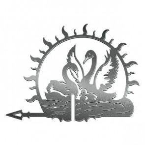 Флюгер «ЛЕБЕДИ-1» 01-022 (700*800) RAL 9005 (черный)