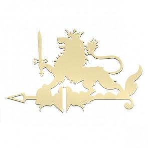 Флюгер «ЛЕВ» 01-024 (700*800) RAL 1014 (слоновая кость)