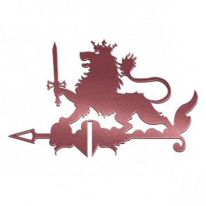 Флюгер «ЛЕВ» 01-024 (700*800) RAL 3005 (винно-красный)