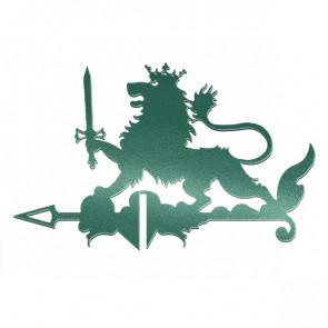 Флюгер «ЛЕВ» 01-024 (700*800) RAL 6005 (зеленый мох)
