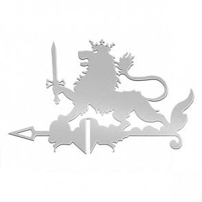 Флюгер «ЛЕВ» 01-024 (700*800) RAL 7004 (сигнальный серый)
