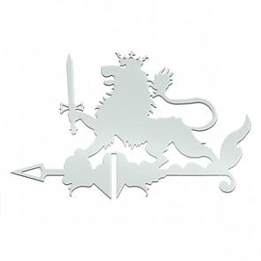 Флюгер «ЛЕВ» 01-024 (700*800) RAL 9003 (сигнальный белый)
