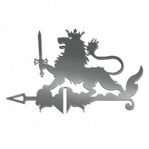 Флюгер «ЛЕВ» 01-024 (700*800) RAL 9005 (черный)