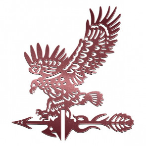 Флюгер «ОРЕЛ-1» 01-028 (700*800) RAL 3005 (винно-красный)