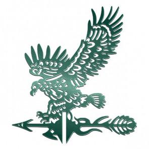 Флюгер «ОРЕЛ-1» 01-028 (700*800) RAL 6005 (зеленый мох)