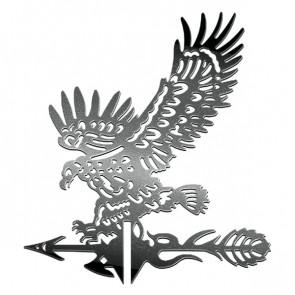 Флюгер «ОРЕЛ-1» 01-028 (700*800) RAL 9005 (черный)