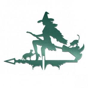 Флюгер «ВЕДЬМА» 01-007 (700*800) RAL 6005 (зеленый мох)