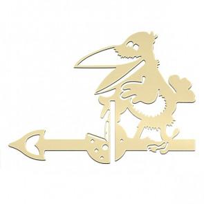 Флюгер «ВОРОНА» 01-010 (700*800) RAL 1014 (слоновая кость)