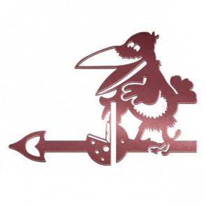 Флюгер «ВОРОНА» 01-010 (700*800) RAL 3005 (винно-красный)