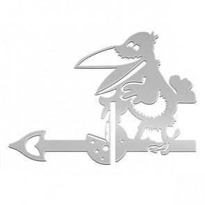 Флюгер «ВОРОНА» 01-010 (700*800) RAL 7004 (сигнальный серый)