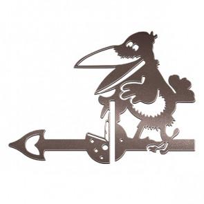 Флюгер «ВОРОНА» 01-010 (700*800) RAL 8017 (шоколадно-коричневый)