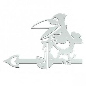 Флюгер «ВОРОНА» 01-010 (700*800) RAL 9003 (сигнальный белый)