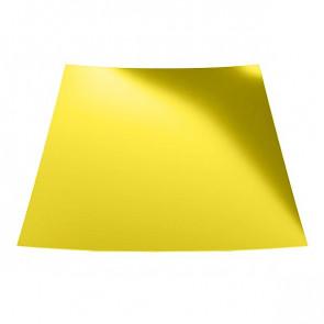 Гладкий лист с защитной пленкой (1250) 0,5 полиэстер RAL 1018 (цинково-желтый)