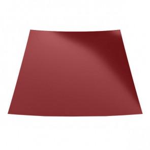 Гладкий лист с защитной пленкой (1250) 0,45 полиэстер RAL 3003 (рубиново-красный)