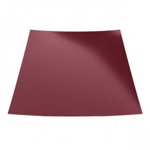 Гладкий лист с защитной пленкой (1250) стальной бархат 0,5 RAL 3005
