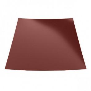Гладкий лист с защитной пленкой (1250) 0,5 полиэстер RAL 3009 (красная окись)