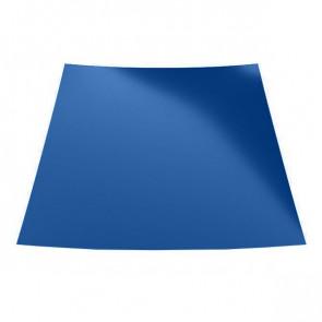 Гладкий лист с защитной пленкой (1250) 0,45 полиэстер RAL 5005 (сигнальный синий)