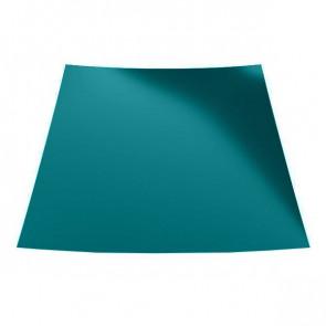 Гладкий лист с защитной пленкой (1250) 0,45 полиэстер RAL 5021 (водная синь)