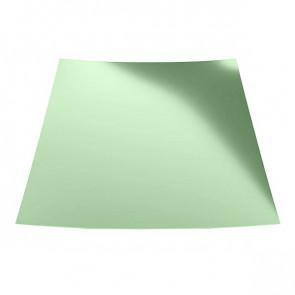 Гладкий лист с защитной пленкой (1250) 0,45 полиэстер RAL 6019 (бело-зеленый)