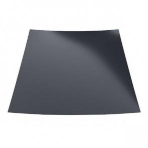 Гладкий лист с защитной пленкой (1250) 0,45 полиэстер RAL 7024 (графитовый серый)