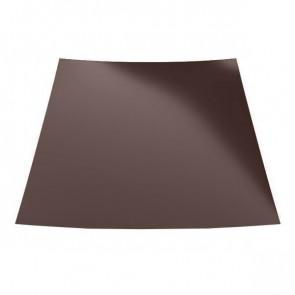 Гладкий лист с защитной пленкой (1250) матовый 0,5 RAL 8017