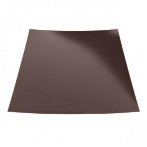 Гладкий лист с защитной пленкой (1250) стальной бархат 0,5 RAL 8017