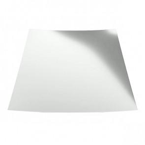 Гладкий лист с защитной пленкой (1250) 1 полиэстер RAL 9003 (сигнальный белый)