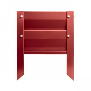 Грядка металлическая КРОМА RAL 3003 (рубиново-красный)