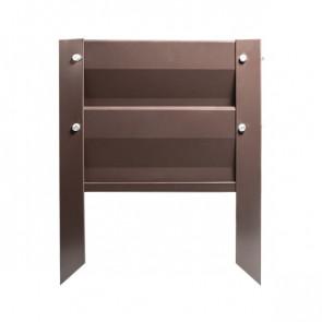 Грядка металлическая КРОМА RAL 8017 (шоколадно-коричневый)