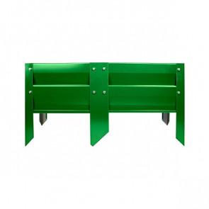 Грядка металлическая КРОМА RAL 6002 (лиственно-зеленый)