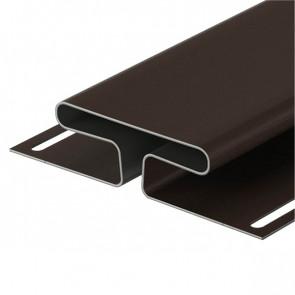 H-профиль для винилового сайдинга DOCKE (3000) шоколад