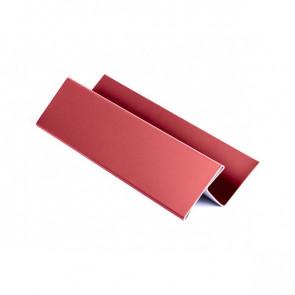 H – профиль для металлосайдинга, 1,25 м, полиэстер, RAL 3003 (рубиново-красный)