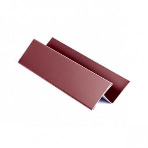 H – профиль для металлосайдинга, 1,25 м, полиэстер, RAL 3005 (винно-красный)