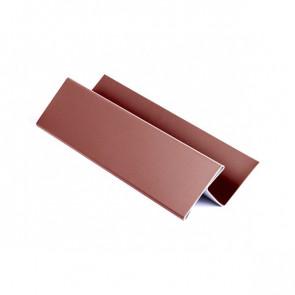 H – профиль для металлосайдинга, 2 м, полиэстер, RAL 3009 (красная окись)
