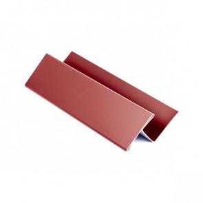 H – профиль для металлосайдинга, 2 м, полиэстер, RAL 3011 (коричнево-красный)