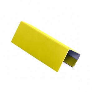 J – профиль для БЛОК ХАУСА двойного, 2 м, полиэстер, RAL 1018 (цинково-желтый)