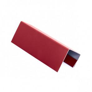J – профиль для БЛОК ХАУСА двойного, 2 м, полиэстер, RAL 3003 (рубиново-красный)