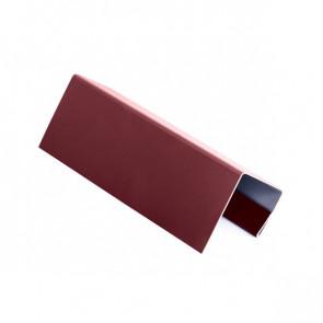 J – профиль для БЛОК ХАУСА двойного, 2 м, полиэстер, RAL 3005 (винно-красный)