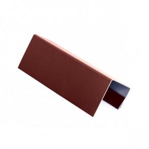 J – профиль для БЛОК ХАУСА двойного, 2 м, полиэстер, RAL 3009 (красная окись)