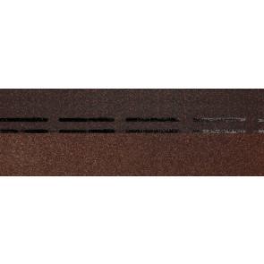 Гибкая черепица коньково-карнизная DOCKE PREMIUM (333*1000), цвет арахис
