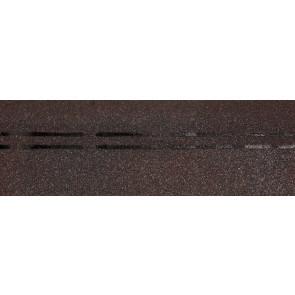 Гибкая черепица коньково-карнизная DOCKE PREMIUM (333*1000), цвет изюм-слива
