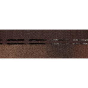 Гибкая черепица коньково-карнизная DOCKE PREMIUM (333*1000), цвет трюфель