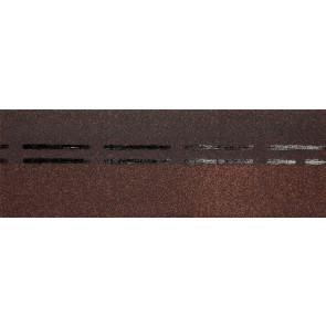 Гибкая черепица коньково-карнизная DOCKE STANDARD (333*1000), цвет коричневый